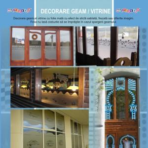 geam vitrine